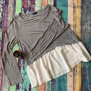 Flowy/layered look gap long sleeve